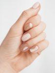 Kawowy manicure - efekt końcowy