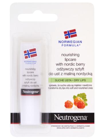 Neutrogena Formuła Norweska Odżywczy sztyft do ust z maliną nordycką
