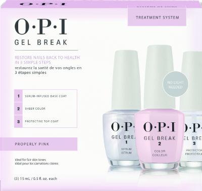 OPI Gel Break - zestaw 3 produktów - serum, specjalny lakier i top coat