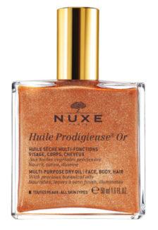 Suchy olejek Nuxe - wersja ze złotymi drobinkami, 50 ml