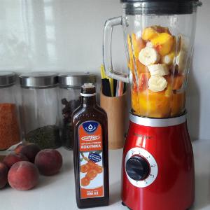 Przygotowanie koktajlu owocowego z dodatkiem soku z rokitnika