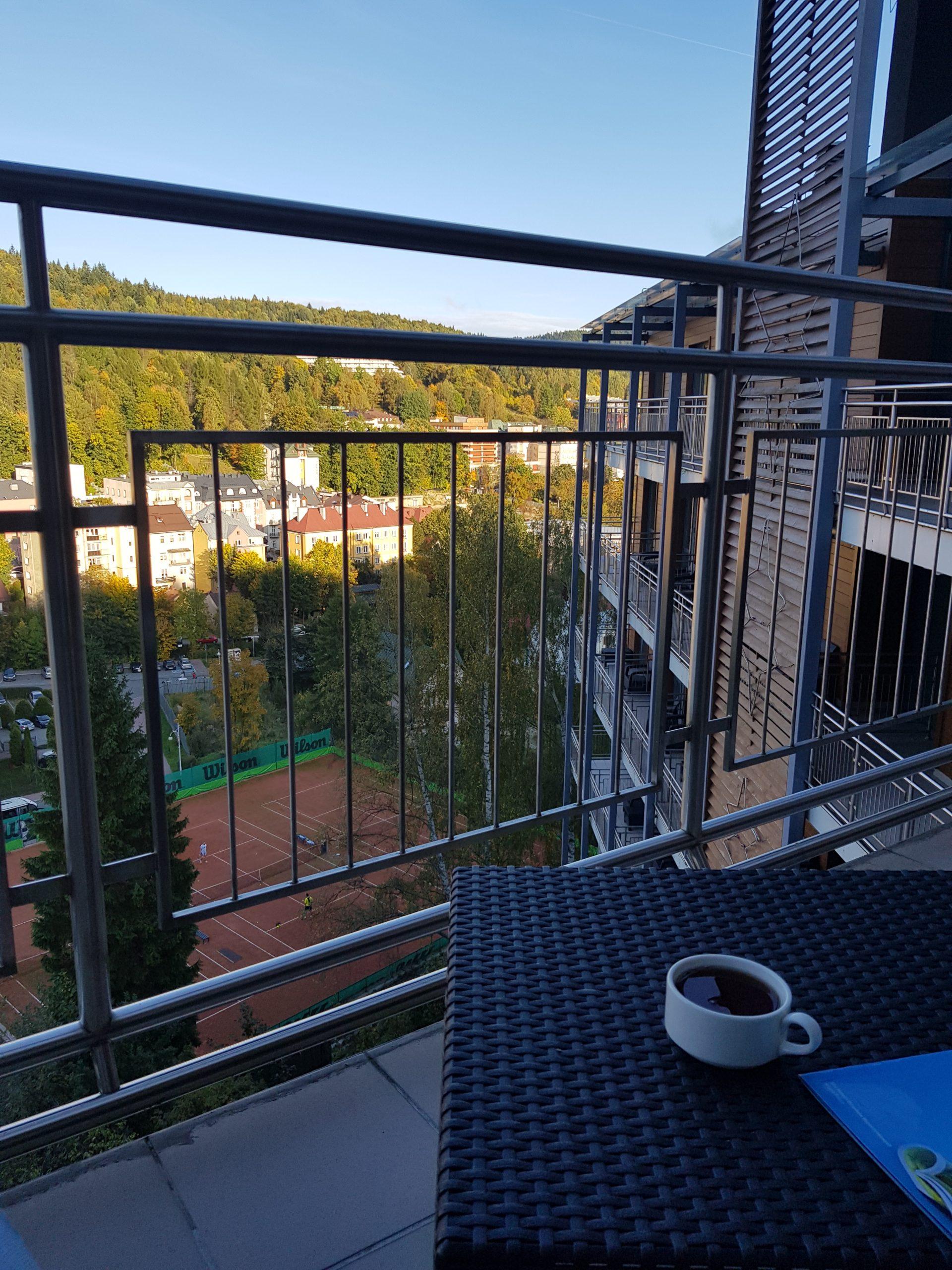 Hotel Krynica - relaks na balkonie