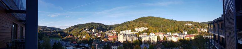Hotel Krynica - widok z baloknu.